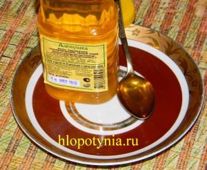 Ложка нерафинированного масла