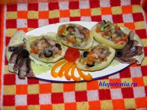 селедочка с овощами