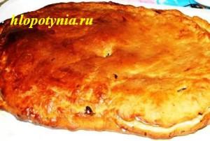 пирог с кислой капустой и сельдью