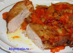 мясо запеченное с морковью