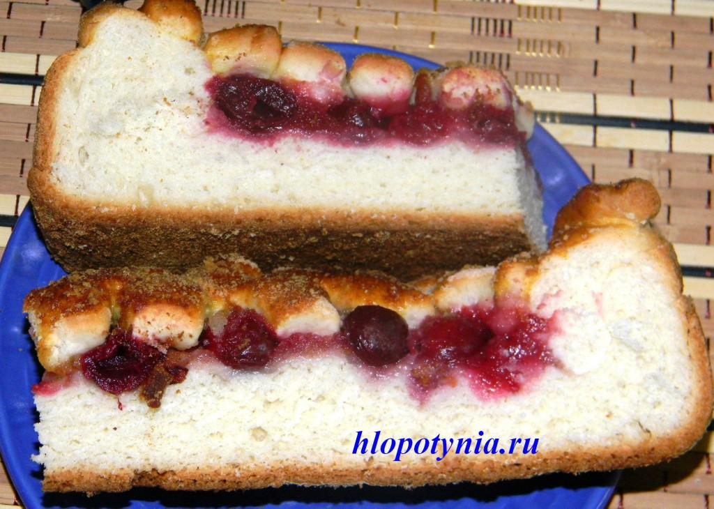 пирог с плетенка видео вишней рецепт