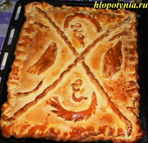 пирог мясной с луком