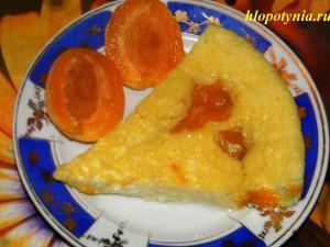 Сладкая рисовая запеканка с абрикосом
