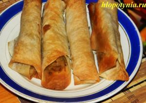 жареные пирожки из лаваша