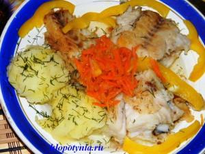 Диетическое блюдо из овощей рыбы