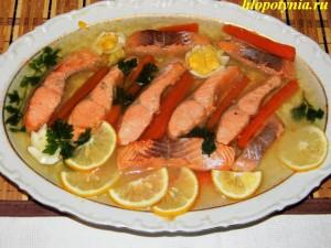 праздничная заливная рыба