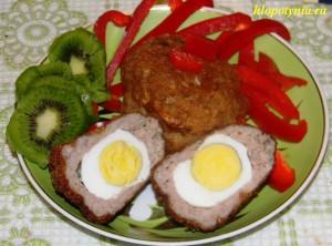 котлета с яйцом и киви
