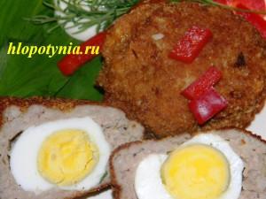 Котлета с вареным яйцом внутри
