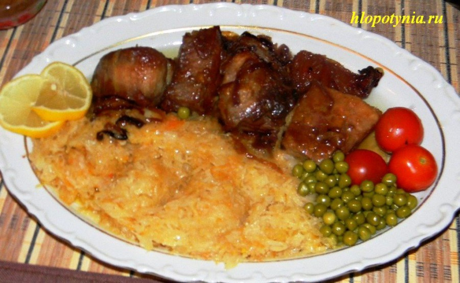 Мясо тушеное с капустой рецепт с пошагово в духовке