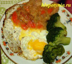 мясо с брокколи