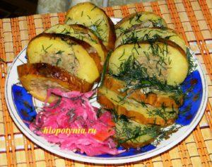 картошка фаршированная печенью
