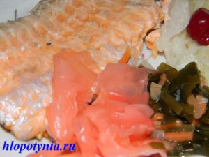 Паровая рыба с овощами