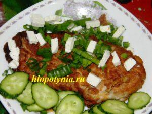 мясо в кляре с овощами