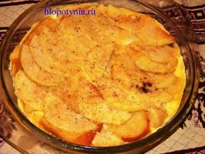 домашний десерт из яблок