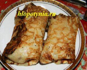 постные блинчатые пирожки с рыбой