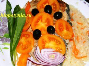 Рыба по-наумовски с гарниром